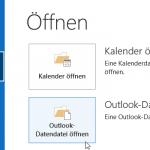 Outlook Datendatei IMAP Ordner
