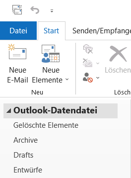 The open Outlook data file