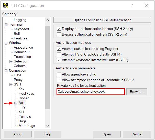 PuTTY SSH Key Authentication