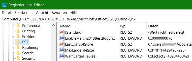 Registry Key WarnLargeFileSize MaxLargeFileSize