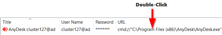 Double click URL to connect AnyDesk Remote Desktop