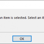 Outlook cannot print unless an item is selected