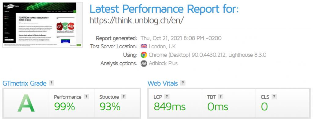 GTmetrix Performance Report