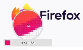Firefox Colorpick Farbpipette  öffnen aus Menu - Weitere Werkzeuge - Farbpipette