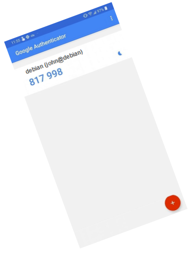 Google Authenticator App auf dem Handy