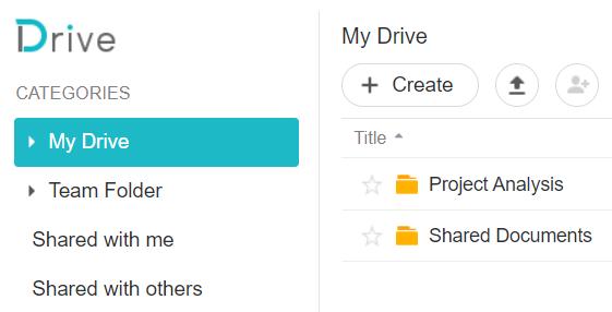 Synology Drive My Documents, create new folders